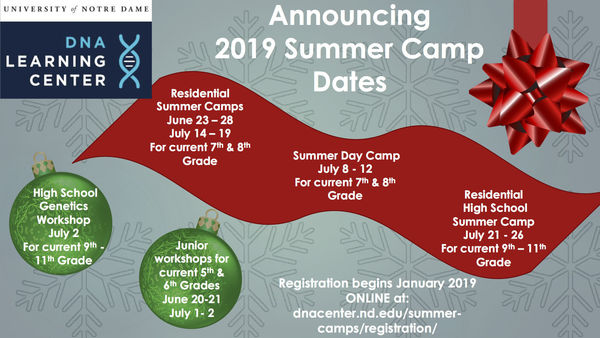 2019 Summer Camp Dates